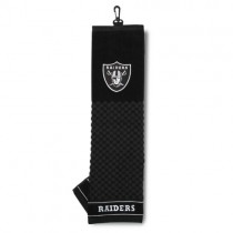 Team Golf NFL Oakland Raiders Embroidered Golf Towel, Checkered Scrubber Design, Embroidered Logo