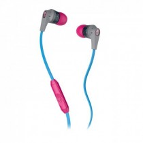 Skullcandy Ink'd 2.0 Micd Gray/Cyan/Gray in-Ear Headphones with in-line Mic (S2IKGY-383)