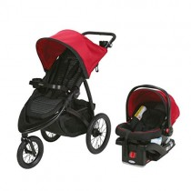 Graco RoadMaster Compact Fold Jogger Travel System Infant Baby Stroller, Zink