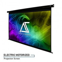 """Akia Screens 150"""" Motorized Electric Projection Screen 16:9 8K 4K Ultra HD 3D Ready Wall/Ceiling Mounted with 12V Trigger Remote 8K 4K Ultra HD 3D Ready for Home Movie Theater AK-MOTORIZE150H"""
