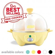 Dash Rapid Egg Cooker: 6 Egg Capacity Electric Egg Cooker for Hard Boiled Eggs, Poached Eggs, Scrambled Eggs, or Omelets with Auto Shut Off Feature - Yellow