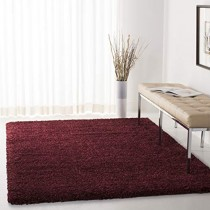 "Safavieh California Premium Shag Collection SG151-4242 Maroon Area Rug (5'3"" x 7'6"")"