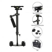 Sutefoto Portable S-60 Max Hight 0.6 Meter Handheld Stabilizer Pro Version for Camera Video DV DSLR - Weight Bearing Capability 0.2-3.5 Kilogram (7 Pound)