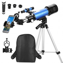 MaxUSee 70mm Refractor Telescope for Kids & Beginners, Travel Scope with Backpack & Adjustable Tripod for Moon Viewing Bird Watching Sightseeing
