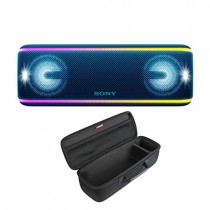 Sony SRS-XB41 Portable Bluetooth Speaker (Blue) with Hard Shell Carrying case