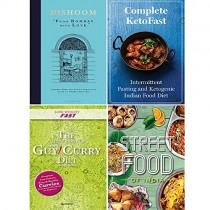 Dishoom [Hardcover], Slow Cooker Spice-Guy Curry Diet, Complete KetoFast and Fresh & Easy Indian Street Food 4 Books Collection Set