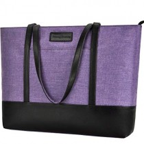 Laptop Tote Bag,Fits 15.6 Inch Laptop,Womens Lightweight Water Resistant Nylon Tote Bag Shoulder Bag,Purple