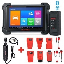 Autel MaxiCOM MK908 Wireless Diagnostic Scan Tool with ECU Coding ADAS Bi-Directional Control Active Tests IMMO Keys All Systems OE-Level Diagnosis, Oil Reset, EPB, SAS, DPF, ABS Bleeding MV108 Add-On