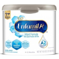 Enfamil A2 Premium Infant Formula, Premium Milk from Select A2 Cows, Milk-Based Powder with Iron and Easy-to-Digest Proteins, Reusable Tub, 19.5 oz