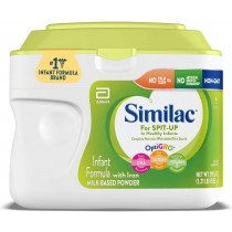 Similac for Spit-Up Non-GMO Infant Formula with Iron, Powder, 19.5-oz Tub