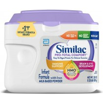 Similac Pro-Total Comfort Infant Baby Easy to Digest Formula Powder, with Iron, with 2'-FL HMO for Immune Support, Non-GMO, Gentle, 20.1-oz Tub