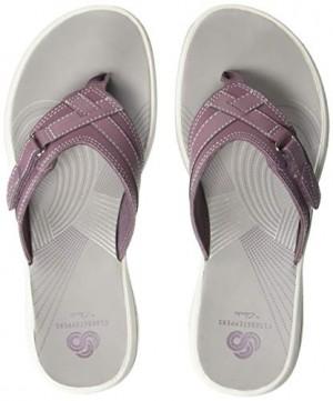 CLARKS Women's Breeze Sea Flip-Flop Purple Synthetic 100 M US