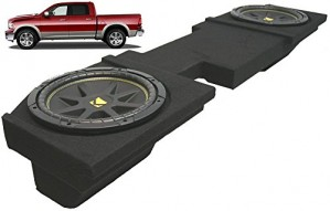 "Compatible with Dodge Ram 2002-2013 Quad or Crew Cab Truck Dual 10"" Kicker C10 Subwoofer Sub Box Enclosure 600 Watts Peak"