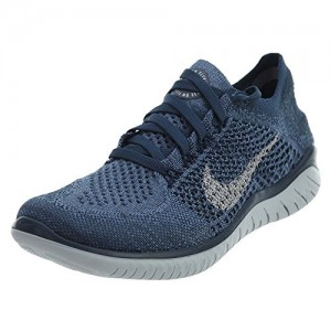 Nike Free Rn Flyknit 2018 Sz 8.5 Womens Running Squadron Blue/Pure Platinum-Light Carbon Shoes