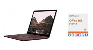 Microsoft Surface Laptop (Intel Core i5, 8GB RAM, 256GB) - Burgundy and Microsoft Office 365 Home
