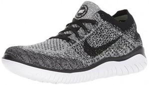 Nike Women's Free RN Flyknit 2018 Running Shoe, 942839-101 (8.5 B(M) US, White/Black)