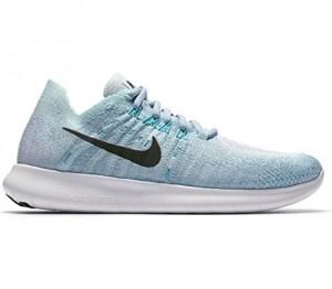 Nike Womens Free RN Flyknit 2017 Running Shoe BLUE TINT/BLACK-CIRRUS BLUE-AURORA GREEN 8.5