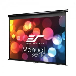 Elite Screens Manual Series, 100-INCH 4:3, Pull Down Manual Projector Screen with AUTO LOCK, Movie Home Theater 8K / 4K Ultra HD 3D Ready, 2-YEAR WARRANTY, M100UWV1